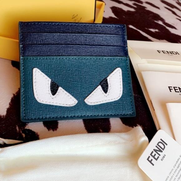 7570d607 Fendi monster card holder wallet
